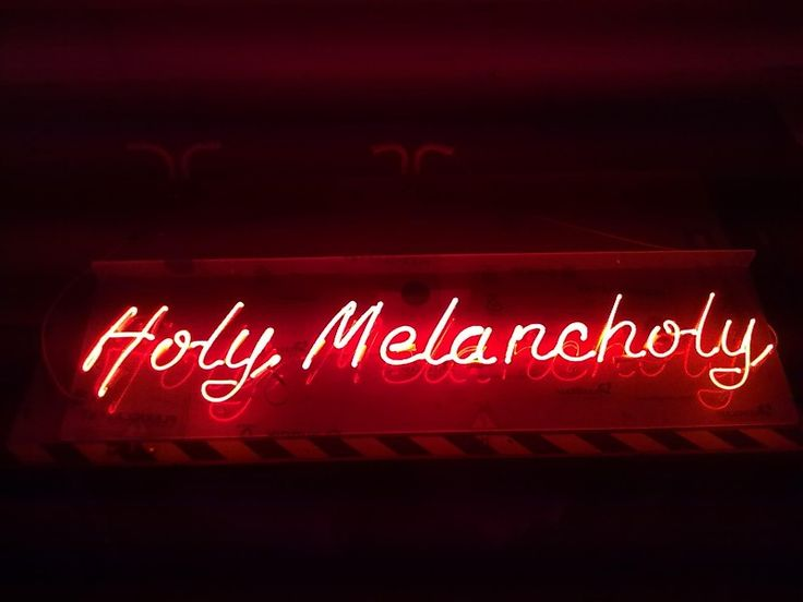 'Holy Melancholy' Neon