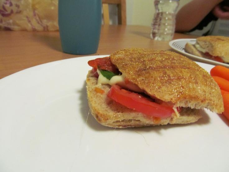 tomatoes with fresh basil tomato fresh mozzarella roasted pepper on ...