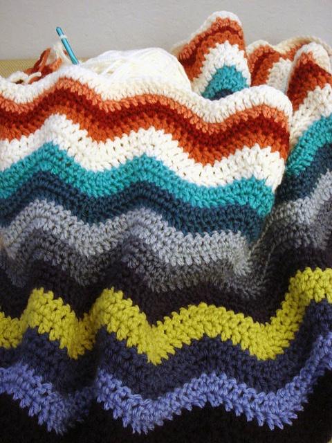 Crochet Ripple Afghan hooked on crochet Pinterest
