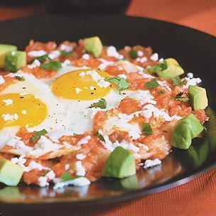Huevos Rancheros with Roasted Tomato Sauce