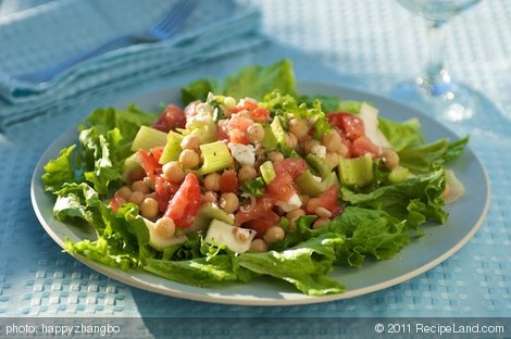 15 Minute Greek Garbanzo Bean Salad | Recipe