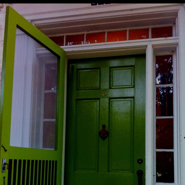 Green Front Door Home Pinterest