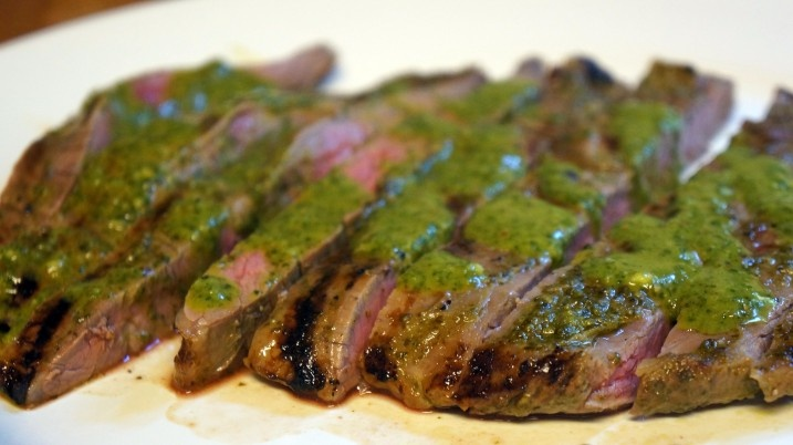 flank steak with Chimichurri sauce | EAT YOUR