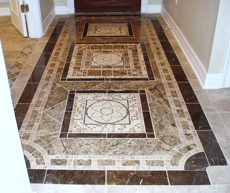 Entryway tile ideas pinterest for Tile designs for entryways