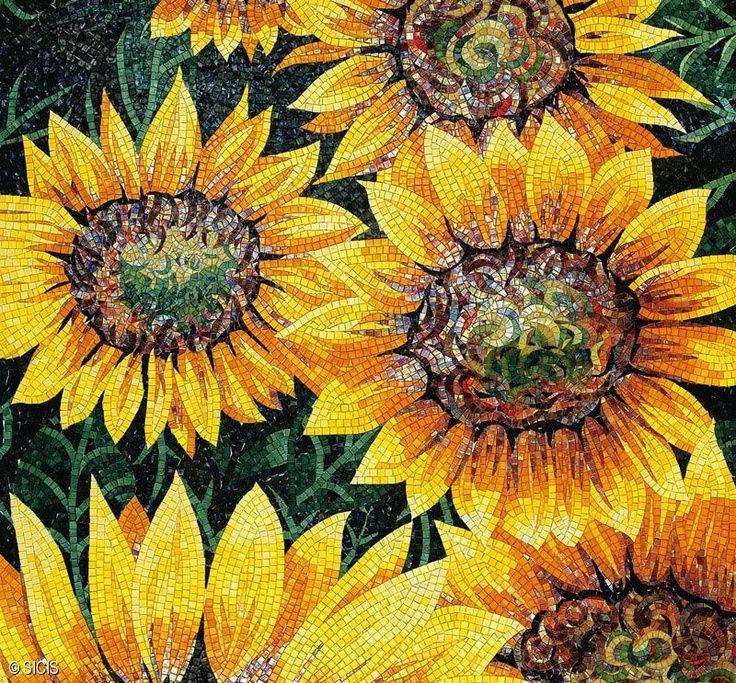 Happy Sunflower Mosaic Ahhhhh Mosaics Murals Stained