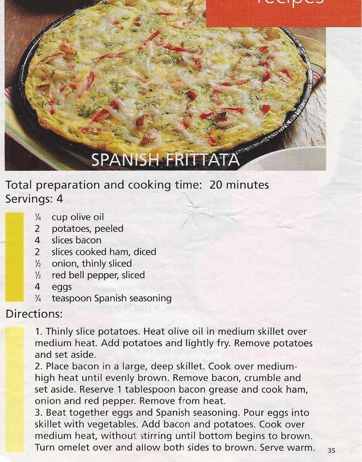 Spanish Frittata | Breakfast and Brunch | Pinterest