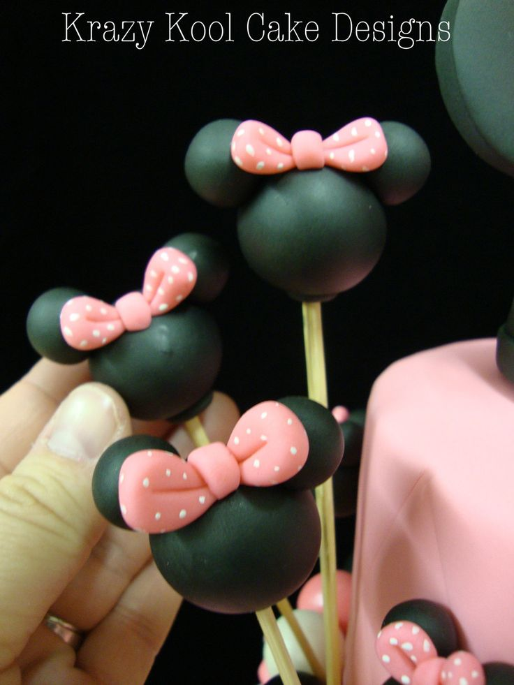 Minnie Mouse Cake Decorations | Minnie Mouse Balloon Cake Toppers by KrazyKoolCakeDesigns on Etsy
