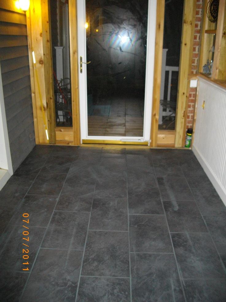 Tiled Floor In Screened In Front Porch Floor Tile Ideas