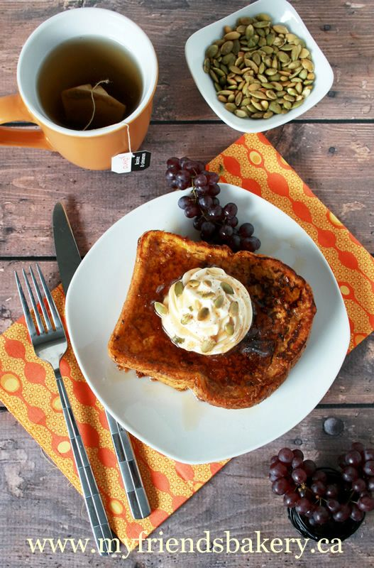 Pumpkin Pie French Toast With Cinnamon Whipped Cream | My Friend's ...