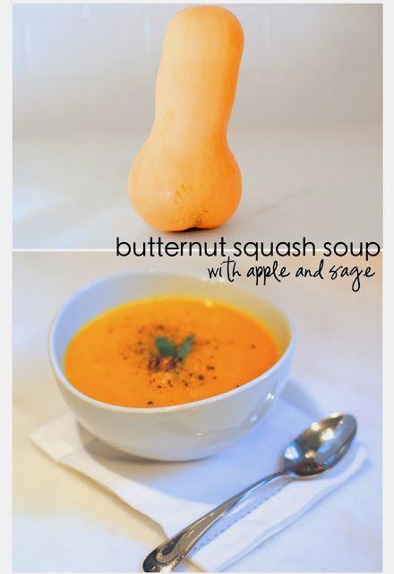 Butternut squash soup w apple & sage | Favorite Recipes | Pinterest