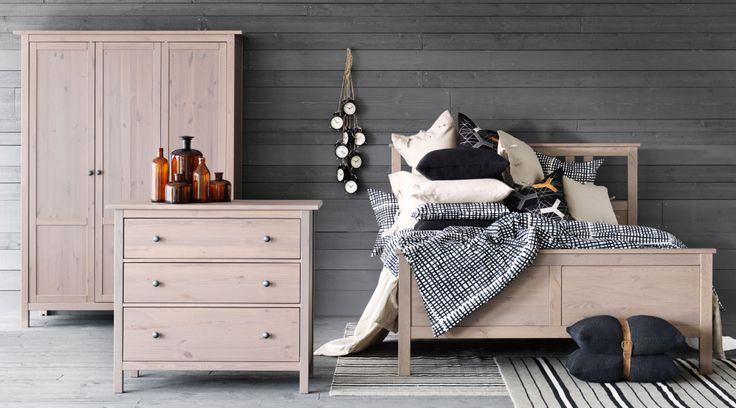 Ikea Hemnes Nightstand Gray Brown ~ IKEA does such a magnificent job staging their catalog photos Hemnes