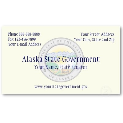Alaska State Government Business Card