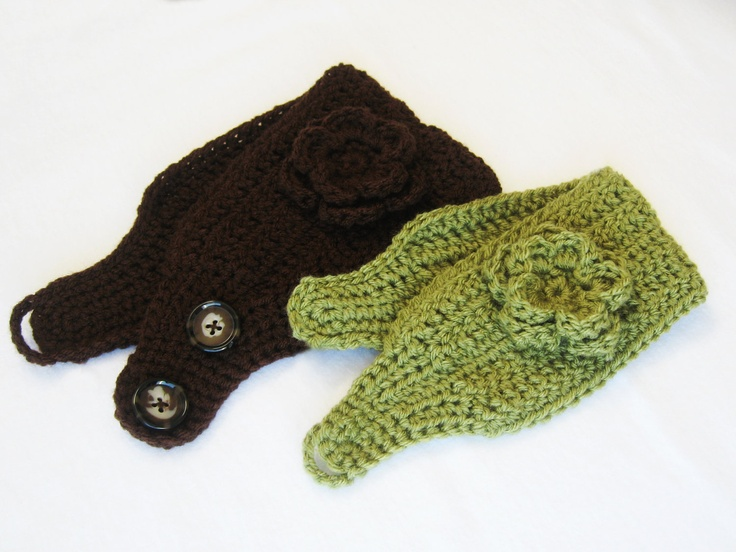 Free Crochet Ear Warmer Patterns For Adults : INSTANT DOWNLOAD Crochet Pattern: Ear Warmer (Sizes 12 ...