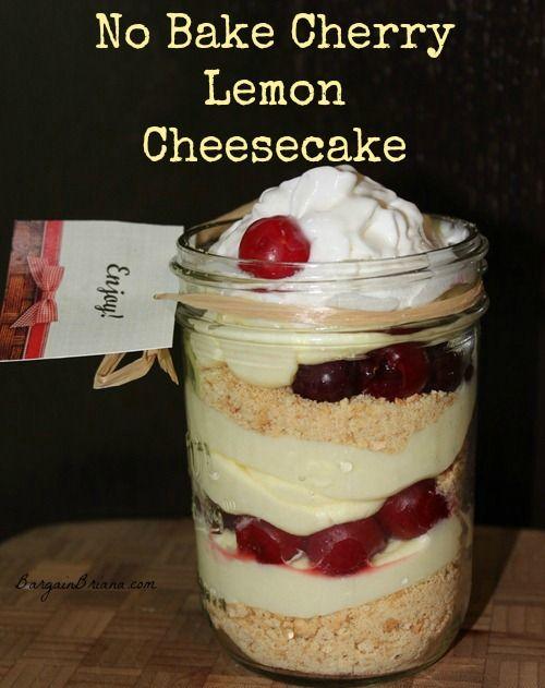 Lemon Cheesecake In A Jar Recipe — Dishmaps