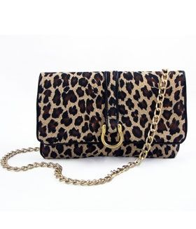 Hipsters for Sisters- Leopard Flat Convertible Bag w/ Gold C