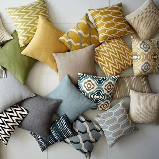 Pillows West Elm Fabric Material Fiber Textile