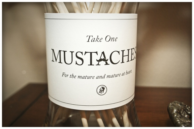 What 30th birthday party is complete without mustaches on a stick??