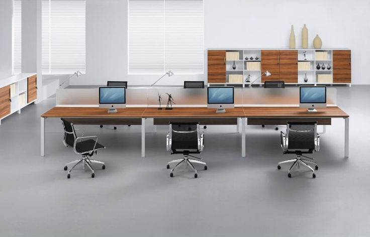 Long Computer Desk Office Space Pinterest