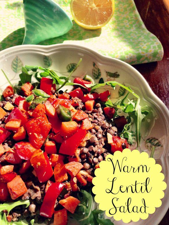 warm lentil salad | Eat, Drink and be Merry | Pinterest