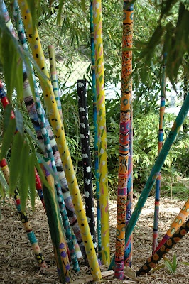 painted bamboo rods