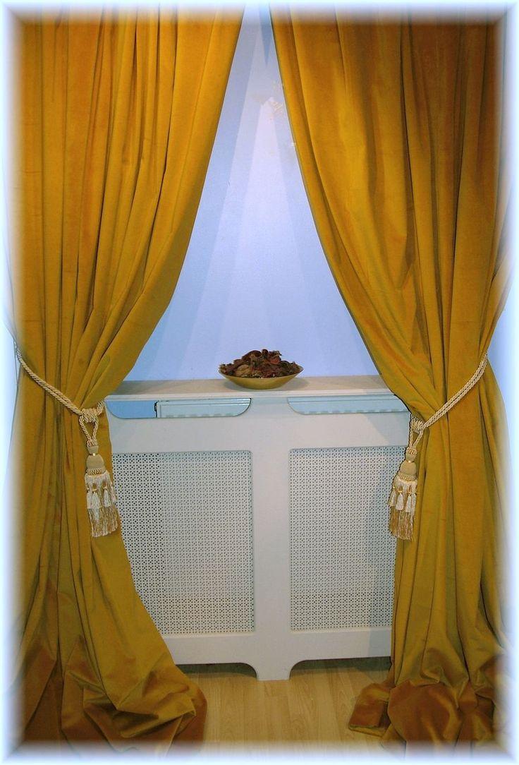 Stunning Antique Gold Velvet Curtains ~ All Sizes MTM ~ Fully Bespoke ...