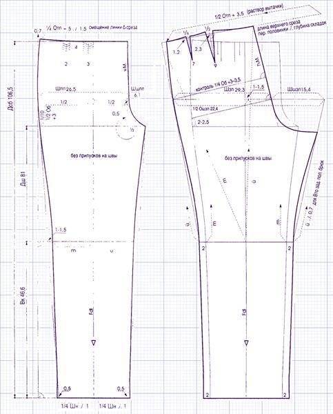 Выкройки летних мужских брюк