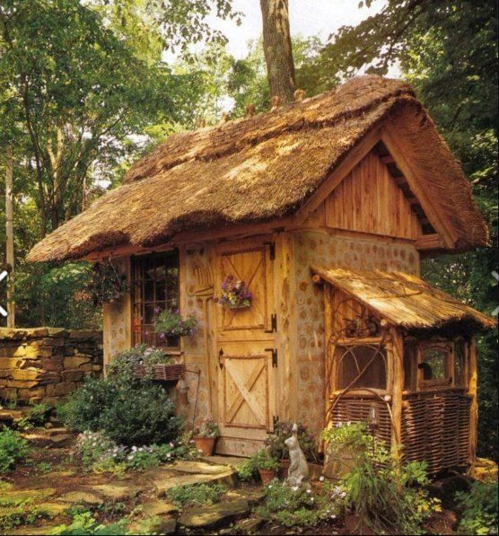 Cute Backyard Sheds : Cottage style potting shed Cute!  Garden potting sheds, greenhouses