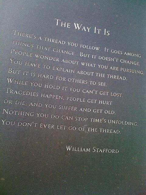 william stafford essay a way of writing