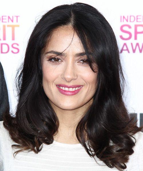 salma hayek hairstyles : Salma Hayek - Hairstyle Hairstyles for Triangular faces Pinterest
