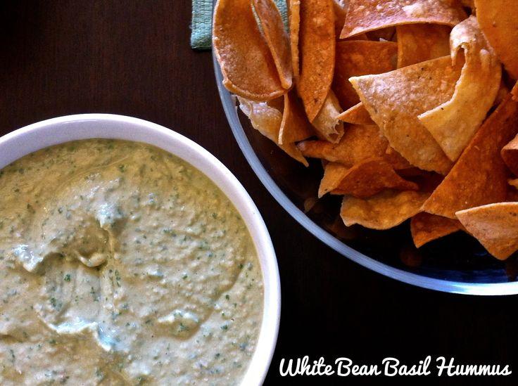 White Bean Basil Hummus - Apparently similar to Trader Joe's recipe..