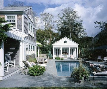 Pools spas pavilions for Pool house plans with living quarters