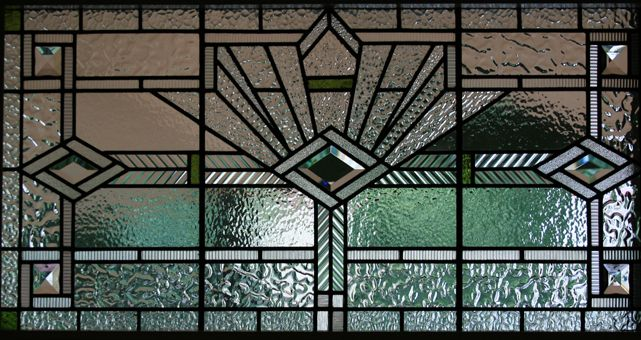 Art deco stained glass abs geo pinterest for Art deco glass windows