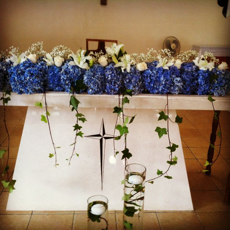 Decoracion Altar Iglesia ~ Decoracion del Altar de la iglesia, en mil flores celestes