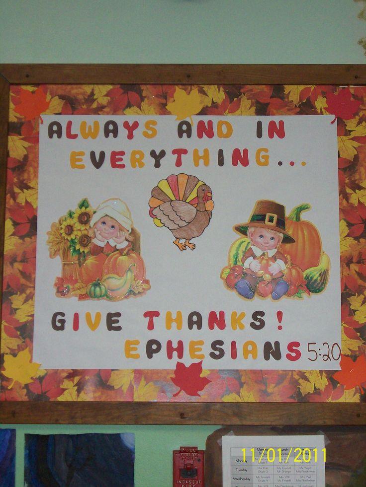 Thanksgiving bulletin board teaching pinterest for Fall bulletin board ideas