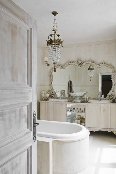 Decoracion Baño Romantico:Baño romántico