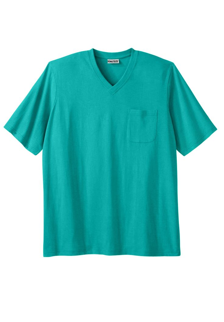 Big and tall lightweight cotton v neck tee shirt with for Tee shirts and more