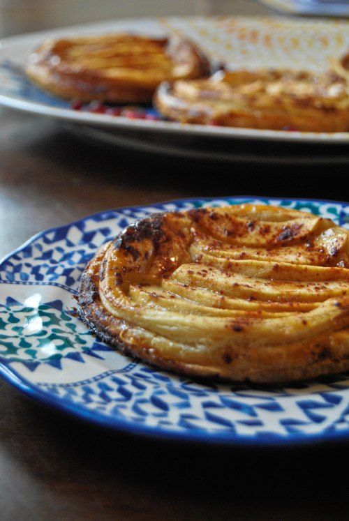 "Apple Tarts with Goat Cheese and Honey ~ via this blog, ""My Jerusalem ..."