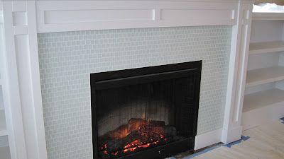 Glass Tile Fireplace Dream Home Pinterest