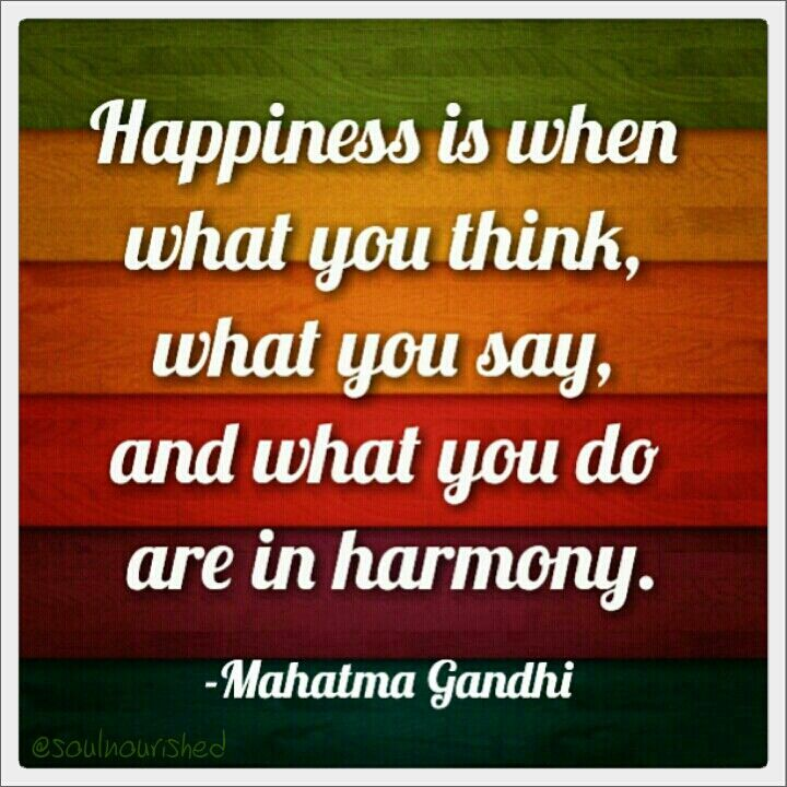 Happiness. Gandhi quotes