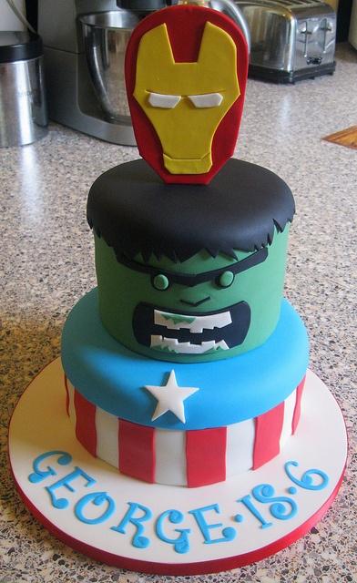 Avengers cake by Rachel Manning Cakes