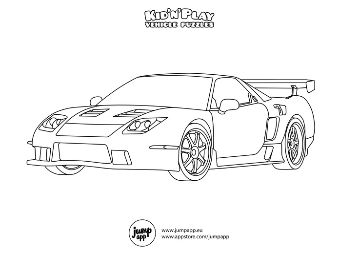 Sports Car Coloring Pages To Print : Sports car printable coloring pages pinterest
