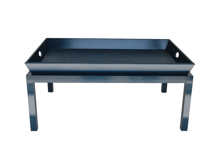 rowayton coffee table not your mother 39 s butler 39 s tray navy blue