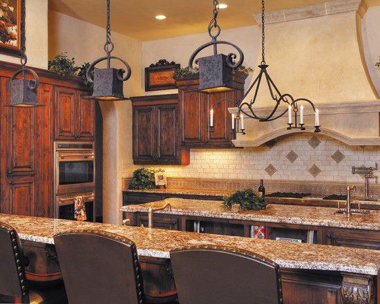 2014 pendant lighting kitchen pinterest for Tuscan style kitchen lighting