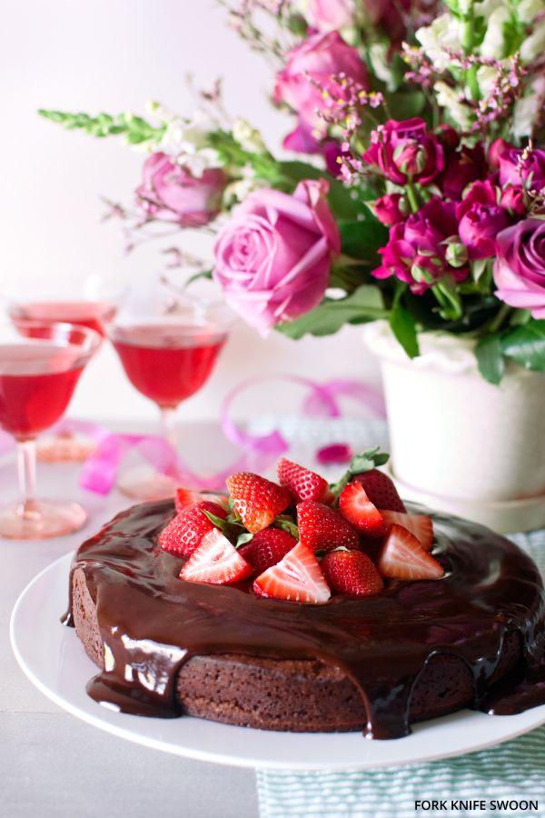 Dark Chocolate Cake with a Chocolate Ganache Glaze @Laura Bolton ...