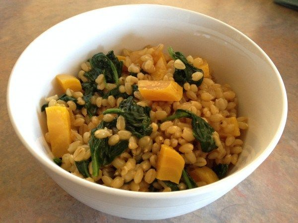 Wheat Berry Salad with Sautéed Spinach & Roasted Golden Beets | Dev's...