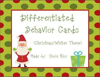 These cute Christmas/Winter themed behavior cards can be used to motivate and reward a wide range of students. $
