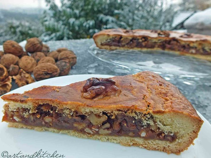 Engadiner Nusstorte (or Bündner Nusstorte) a Swiss Walnut Pie