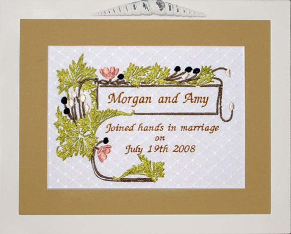 Wedding sampler machine embroidery design