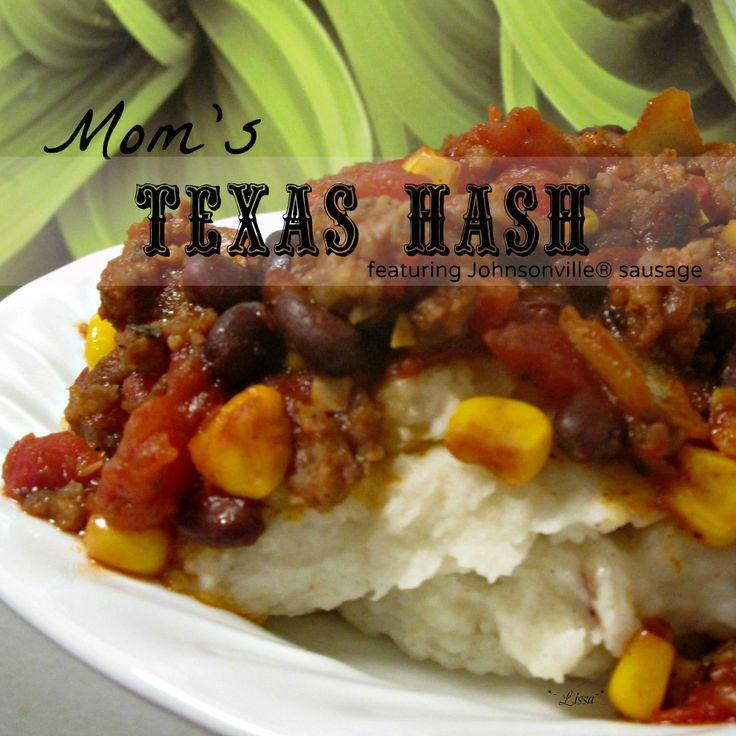 """Mom's Texas Hash"""" #6IngredientsOrLess #JohnsonvilleSausage # ..."""
