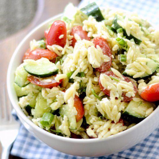 Greek Orzo Salad | savory | Pinterest